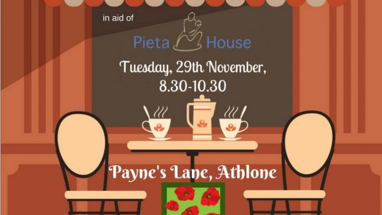 Collins McNicholas fundraiser for Pieta House on Tuesday 29th November in the Poppy Fields Café