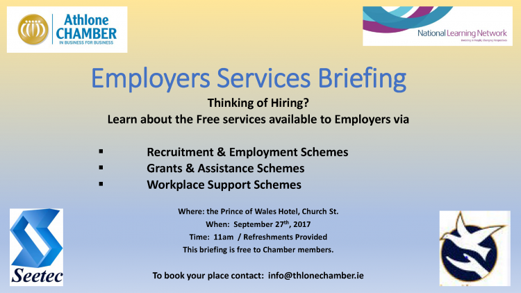 Employer's Services Briefing – September 27th