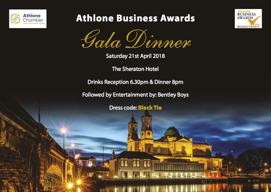 Finalists announced for 2018 Athlone Business Awards
